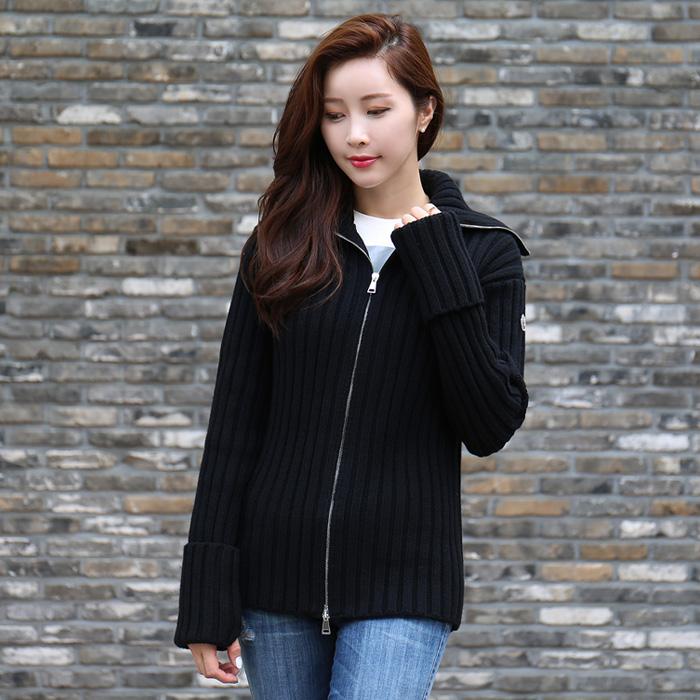 94805 00 9599B <BR>女式高跟织织外套(BK)