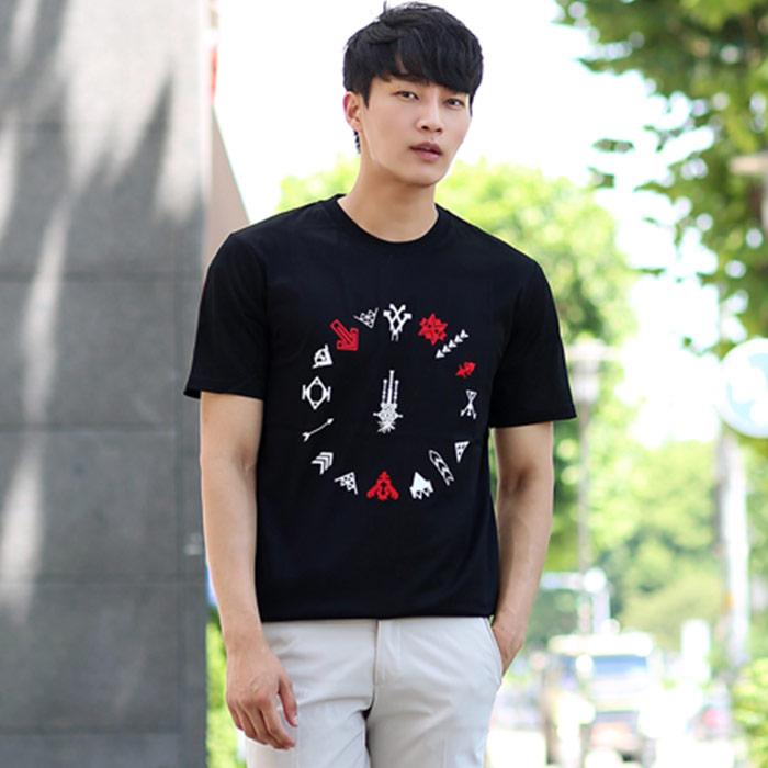 RMJE0061 <BR>箭头印花T恤衫(BK)