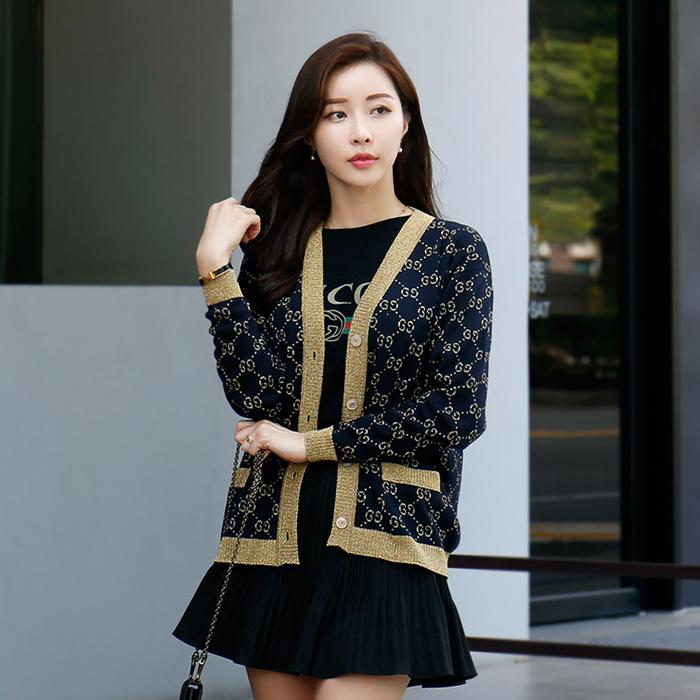 529193 X9W83 4921 <br> GG Cotton Lurex女式开衫(NA)