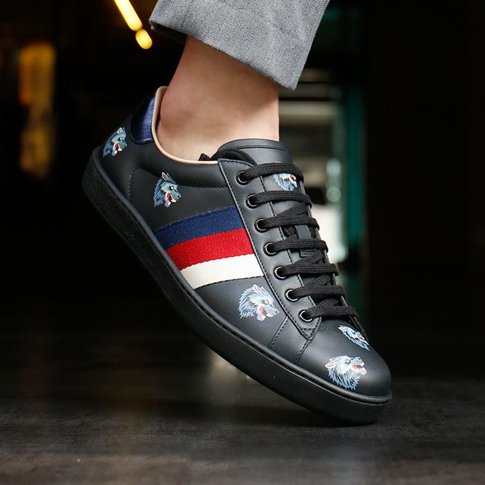 386 750 0H810 <BR> Wolf Ace B布鞋(BK)
