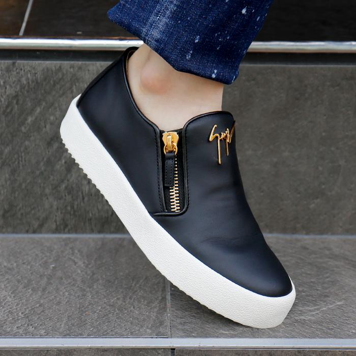 RU70005 001 <BR> Mayon双拉链松紧帆布鞋(BK)