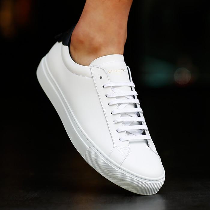 19SS BM08219876 116 <BR>白色Black Knot胶底帆布鞋(WH)