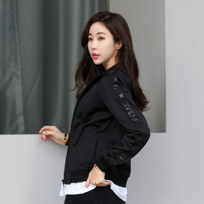 X3706420 <BR> Givenchy图标女式外套大衣(BK)