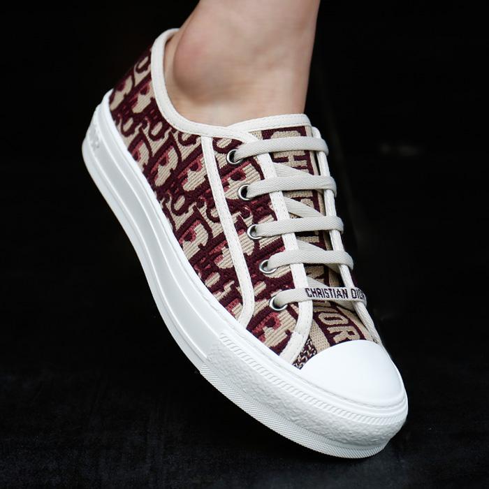 19SS KCK211OBE <BR>斜纹刺绣威威胶底帆布鞋(RE)