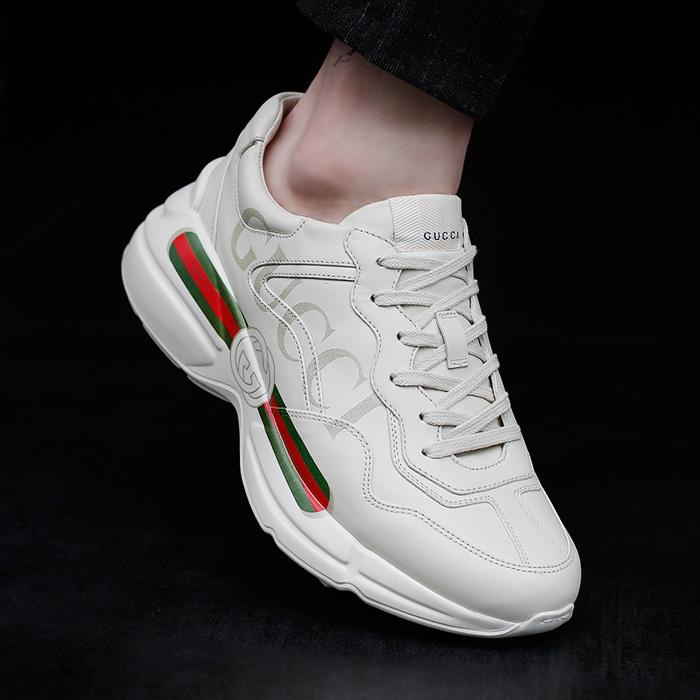 19SS 500877 DRW00 9522 <BR> Gucci Raiton胶底帆布鞋(WH)