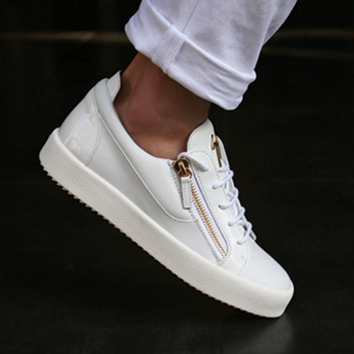 19SS RU70000 003 <BR> May London LOGOBALL胶底帆布鞋(WH)