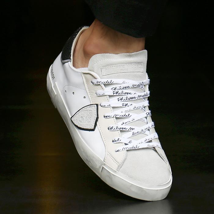 19FW PRLU AP09 <br>复古/古典瓦萨胶底帆布鞋(WH)