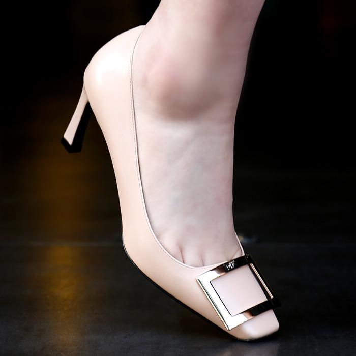 RVW40015280BSS <br> Belle Vivier浅口式鞋山(PK)