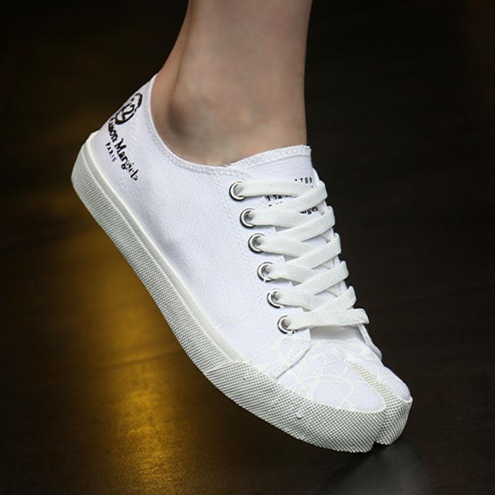 20FW S58WS0110 P2974 <BR>绘画虎斑猫胶底帆布鞋(WH)